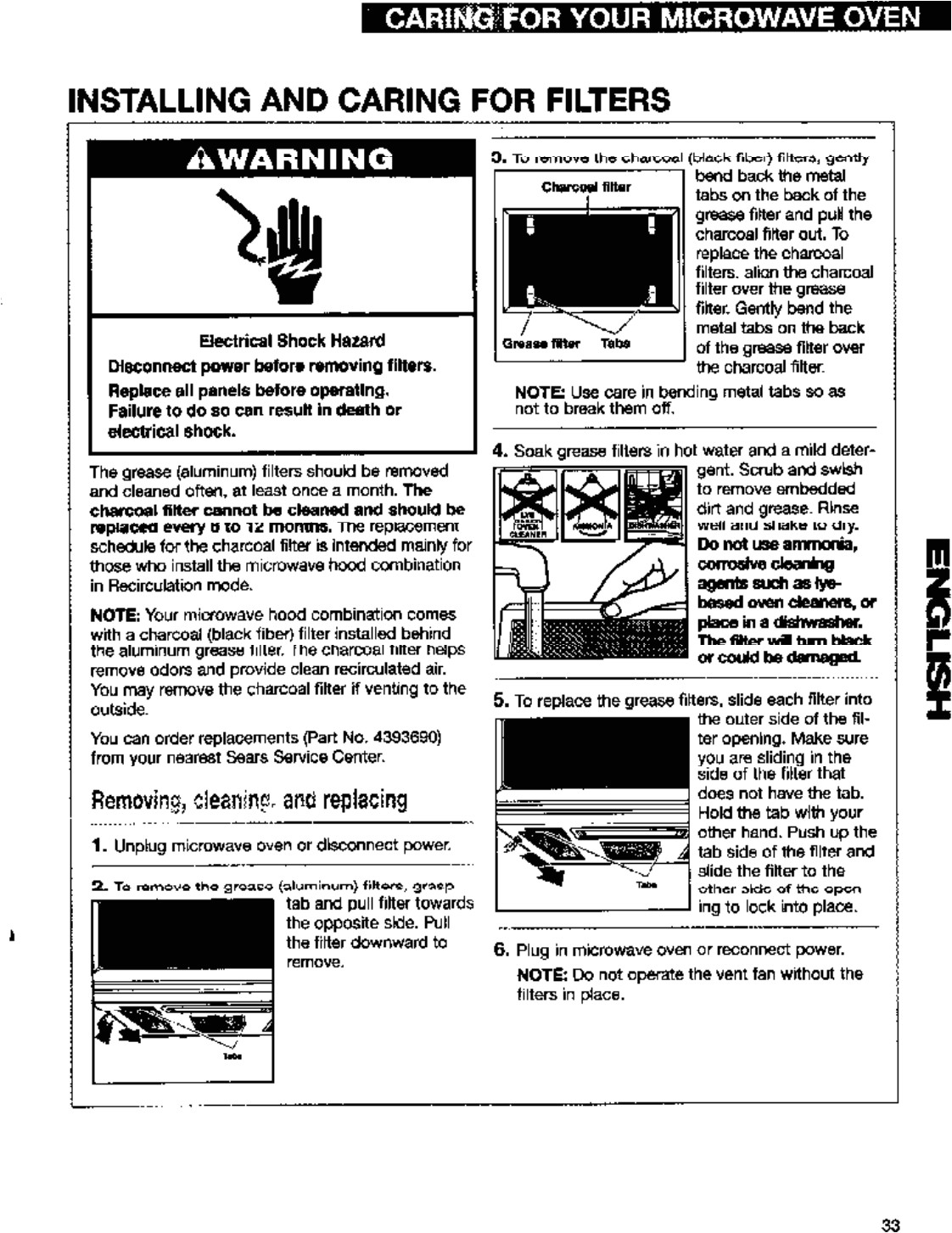 page 33 of gh8185 microwave oven user manual manual2 whirlpool microwave products development limited