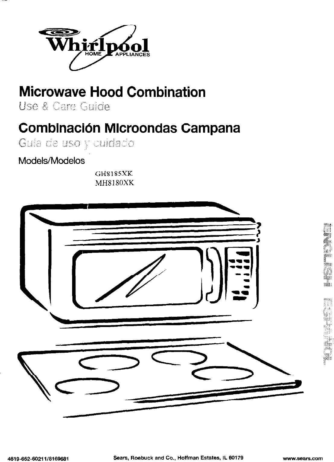 page 1 of gh8185 microwave oven user manual manual2 whirlpool microwave products development limited