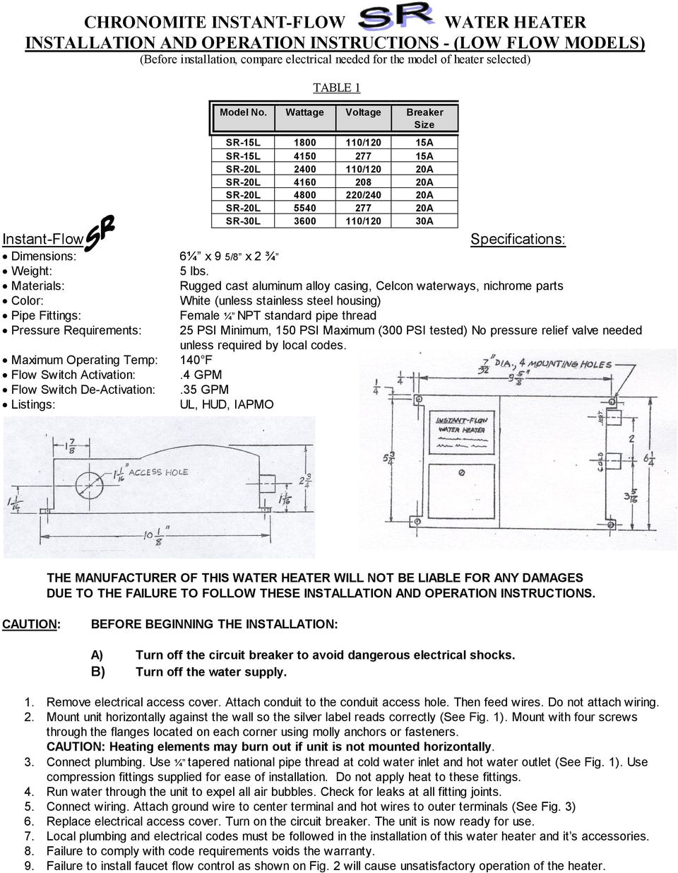 specifications dimensions 6a x 9 5 8 x 2 a weight 5