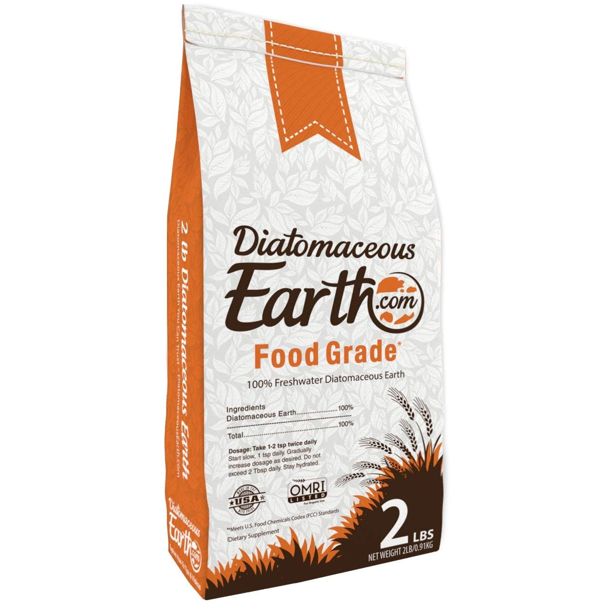 amazon com diatomaceous earth 2 lbs food grade de includes free scoop garden outdoor