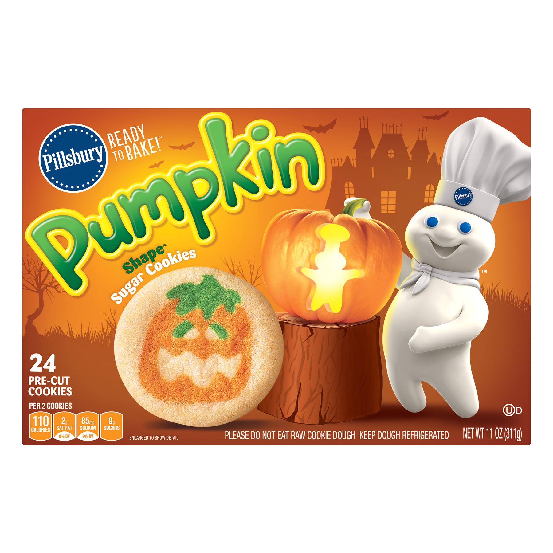 pillsbury ready to bake a pumpkin shapea sugar cookies 11 0 oz walmart com