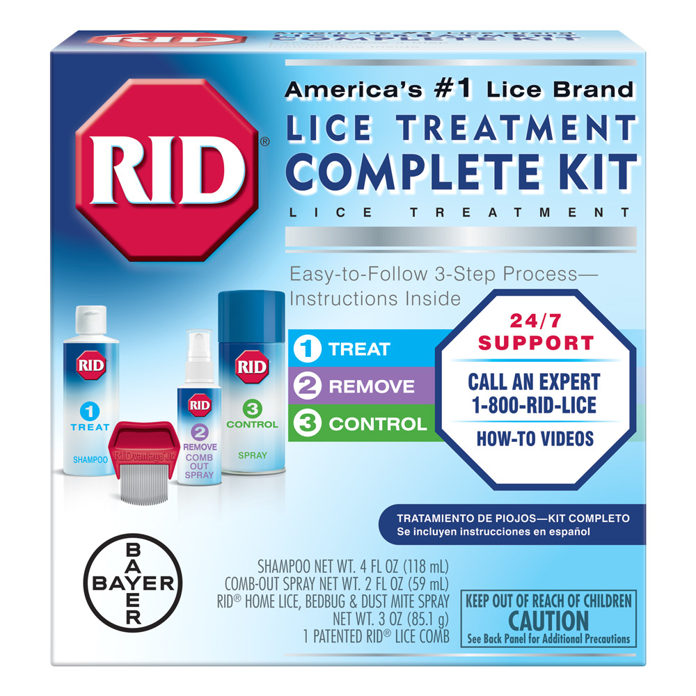 rid lice complete treatment kit to kill lice in hair and home walmart com