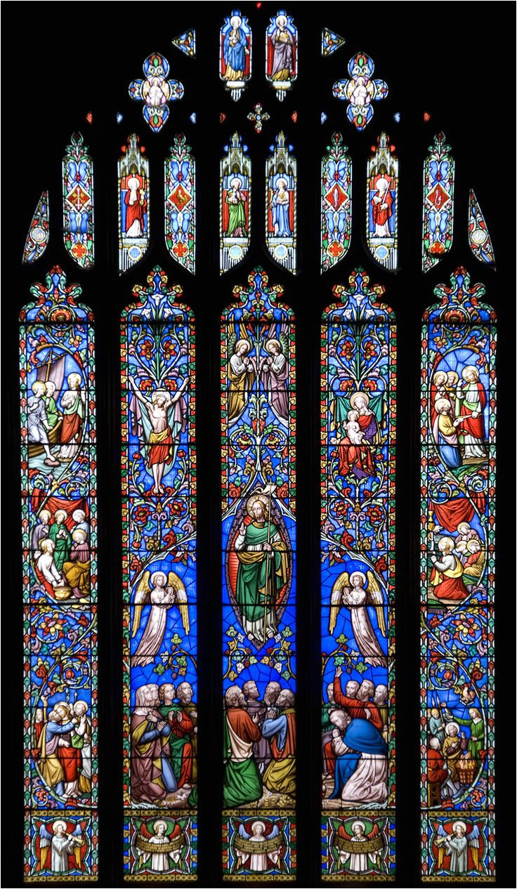 kinver church stained glass window
