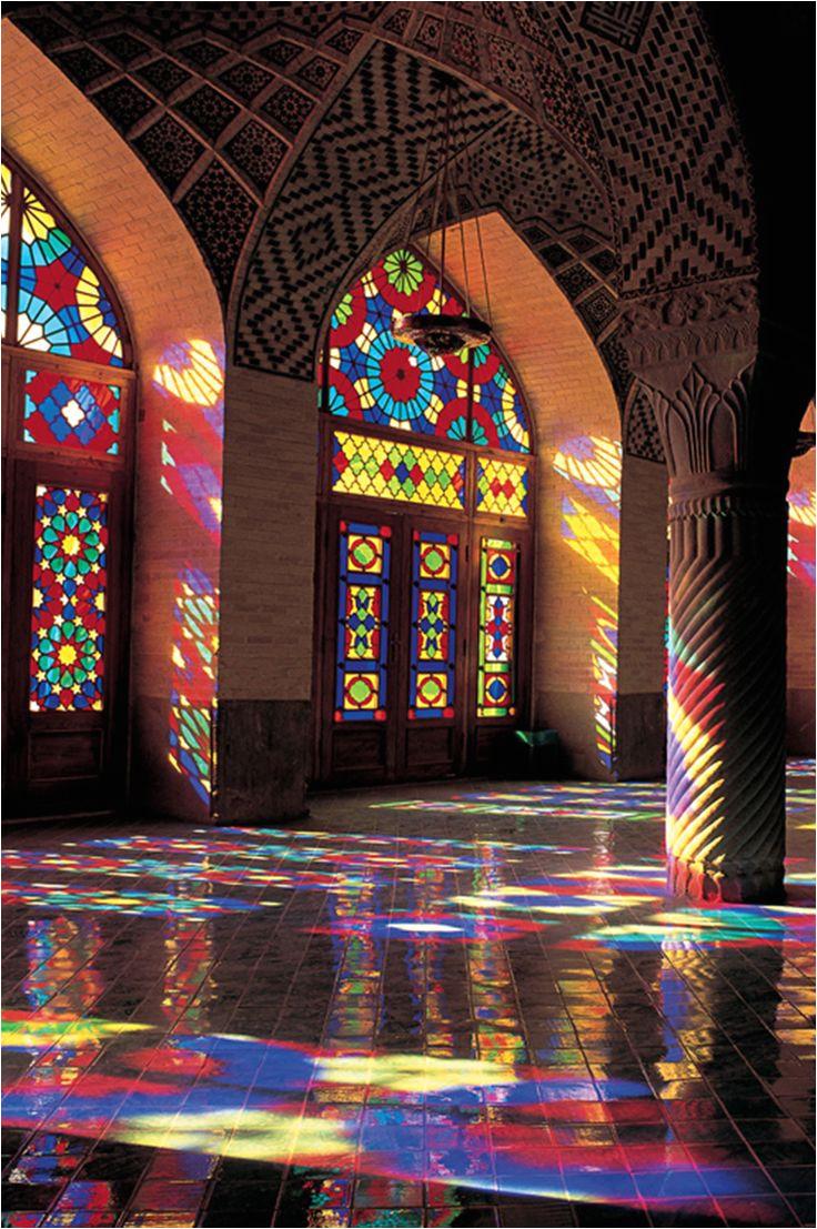 majestic persian architecture at nasir al molk mosque shiraz iran