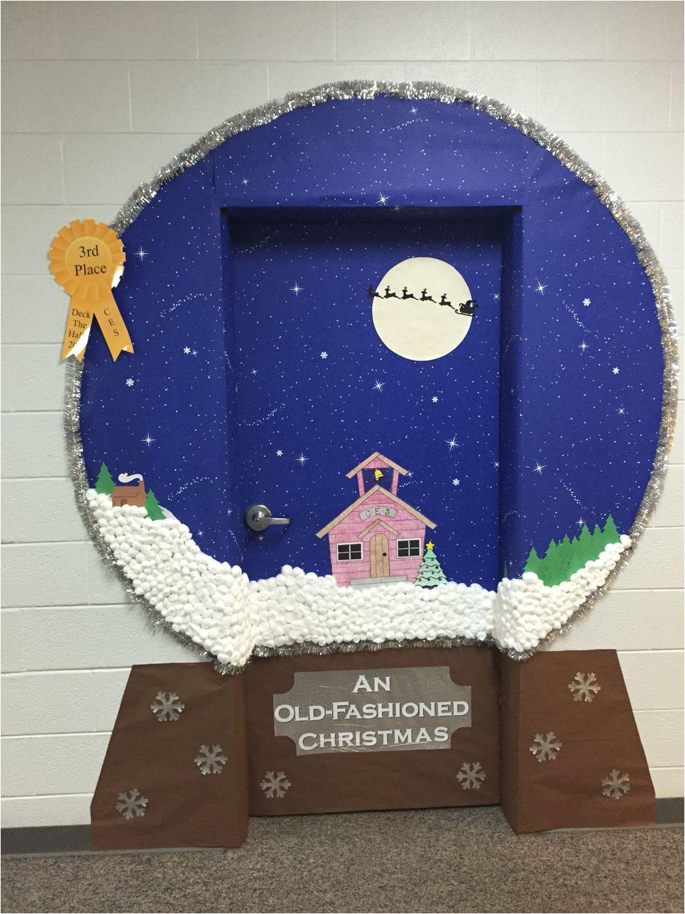 Winter Door Decorations for Elementary School Snow Globe Classroom Door Decoration Idea Crafts Chris