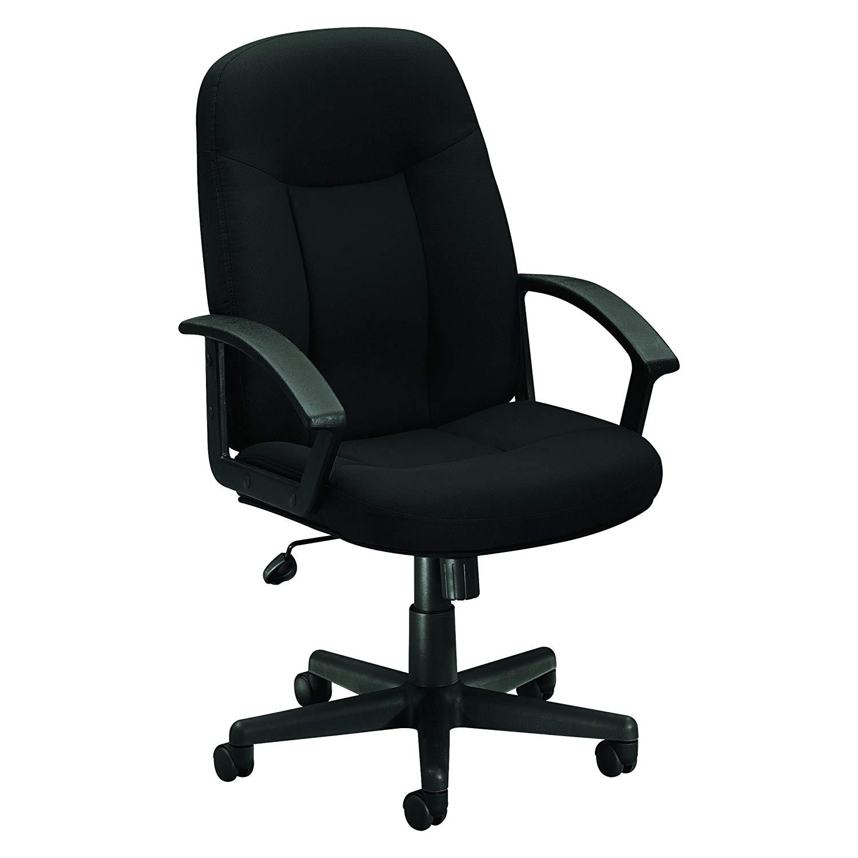 amazon com hon executive high back swivel tilt chair black fabric frame hvl601 kitchen dining