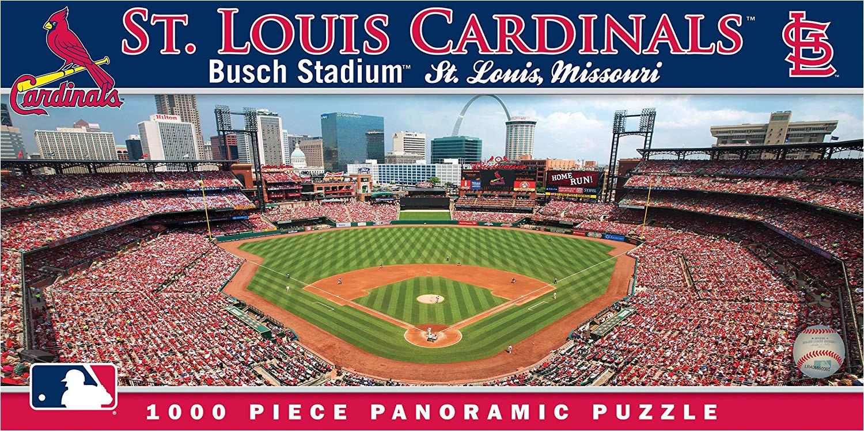 amazon com masterpieces mlb st louis cardinals stadium panoramic jigsaw puzzle 1000 piece toys games