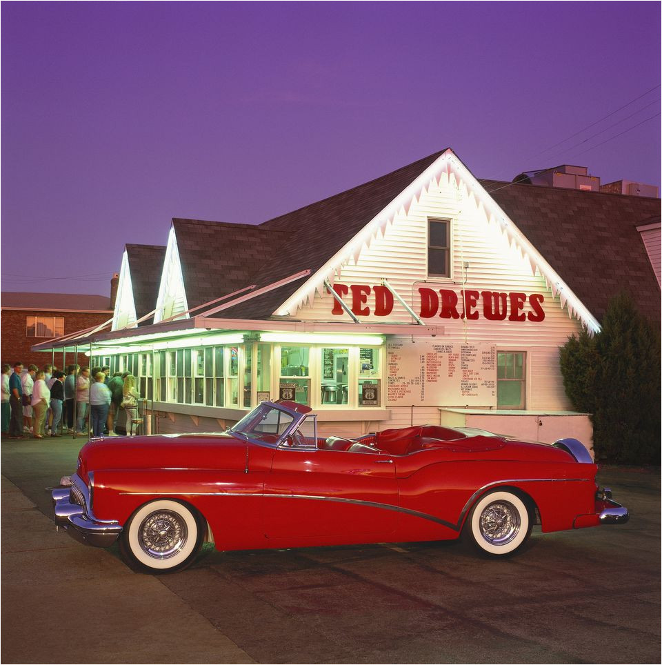 1953 buick in front of ted drewes in st louis