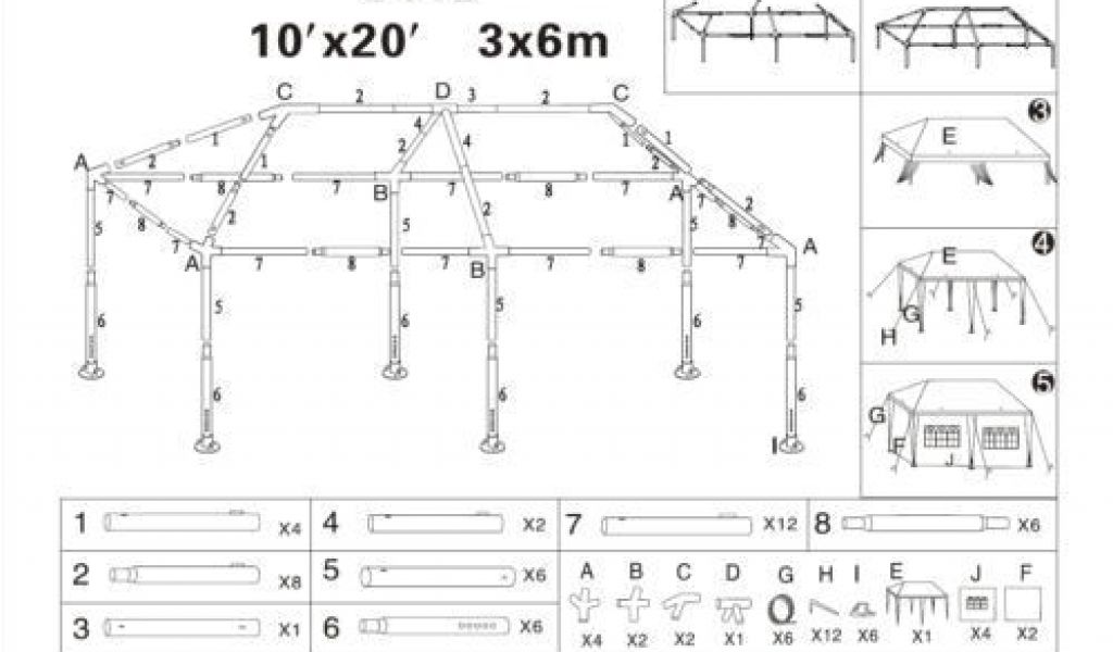 10×20 Canopy Tent assembly Instructions 10×20 Party Tent