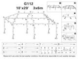 10×20 Canopy Tent assembly Instructions 10×20 Party Tent Gazebo Outdoor Replacement Parts G112