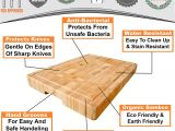 12 Ft butcher Block Countertop Weight Amazon Com Extra Large organic Bamboo Cutting Board End Grain