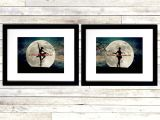 18×24 Mat with 16×20 Opening Set Of 2 Art Prints Ballet Dance Ballerina Moon Teal Bedroom Etsy