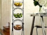 3 Tier Fruit Basket Stand From Costco Pin Scroll 3 Tier Floor Basket Stand with Black Finish
