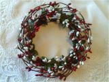 4 Inch Pip Berry Candle Rings One 4 Quot Pip Berry Candle Ring or Wreath Red White Berries