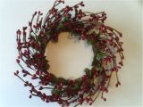 4 Inch Pip Berry Candle Rings One 4 Quot Pip Berry Candle Ring or Wreath Vintage Red