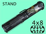 4×8 Pool Cue Case with Stand Billiard Pool Cue Case 4×8 aska C48p05 with Stand