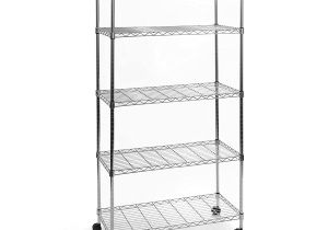 5 Shelf Metal Storage Rack Walmart 5 Tier Ultrazinc Steel Wire Shelving W Wheels Shelf and Bookcase