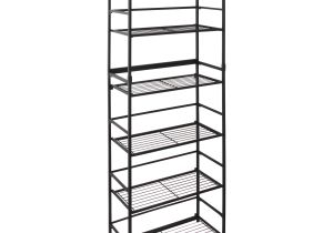 5 Shelf Metal Storage Rack Walmart Flipshelf Folding Metal Shelf No assembly Bookcase Style 6 Shelves