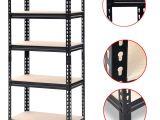 5 Shelf Metal Storage Rack Walmart Yaheetech Black Adjustable 5 Shelf Shelving Unit Storage Rack