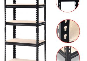5 Shelf Metal Storage Rack Walmart Yaheetech Black Adjustable 5 Shelf Shelving Unit Storage Rack