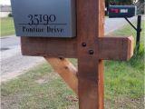 6×6 Cedar Mailbox Post Plans 6×6 Cedar Mailbox Post