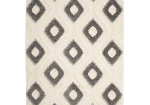 8×10 area Rug Under Queen Bed Shop Safavieh Olympia Shag Cream Grey Polyester Rug 8 X 10