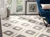 8×10 area Rug Under Queen Bed Shop Safavieh Olympia Shag Cream Grey Polyester Rug 8 X 10 On