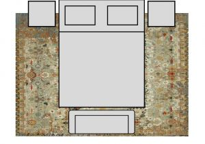 8×10 area Rug Under Queen Bed What Size Rug for Bedroom Rugs Ideas