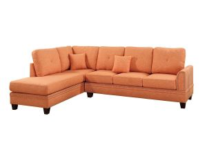 90 Inch Sectional sofa with Chaise Amazon Com Poundex F6514 Pdex F6514 Sectional Set Citrus Kitchen