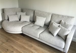 90 Inch Sectional sofa with Chaise Ole Left Hand Facing Rounded Chaise with sofa Section In Light
