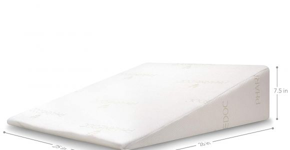 Acid Reflux Wedge Pillow for Side Sleepers Amazon Com Pharmedoc Bed Wedge Pillow 26 25 7 5