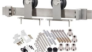 Acme Barn Door Hardware Kit Acme 6 6 Ft Premium Stainless Steel Interior Modern