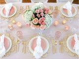 Adornos Para Centro De Mesa De Sala Mesa De Decoracion De Compromiso Blush Table for Easter or Spring