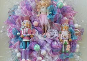 Advent Wreath Kits Hobby Lobby Nutcracker Sugarplum Fairy Deco Mesh Wreath Made by the Artful Diva