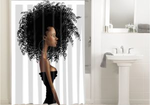 African American Bathroom Sets Afrocentric Afro Hair Design African 646 Shower Curtain