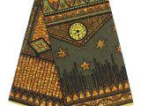 African Mud Cloth Fabric by the Yard Ghanaian Style Kitenge Africa Batik Print Cloth 6 Yards Headwrap