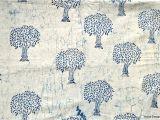 African Mud Cloth Fabric by the Yard Mudcloth Fabric by the Yard Tree Design White Indigo Fabric Mudcloth