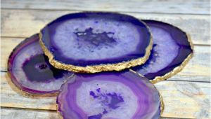 Agate Slices Hobby Lobby Diy Agate Slice Coasters Handmade Natural Gift Set