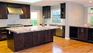 Alaska White Granite with Dark Cabinets Alaska White Granite