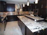 Alaska White Granite with Espresso Cabinets Image Of Alaska White Granite with Espresso Cabinets My