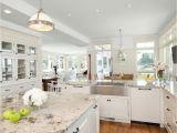 Alaska White Granite with White Cabinets Make Your Elegant Kitchen with Alaska White Granite