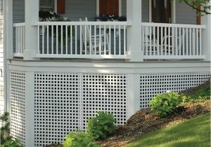 Alternatives to Lattice for Deck Skirting Shop White Privacy Vinyl Lattice Common 0 2 In X 4 Ft X 8 Ft