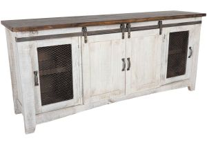 American Furniture Warehouse Pueblo Tv Stand ifd360stand 80 Pueblo 80 Quot Barn Door Tv Stand by Artisan