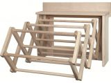 Amish Made Wooden Clothes Drying Rack Handmade Amish Maple Folding Drying Rack Wall Unit 25 5