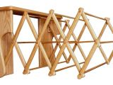 Amish Wooden Clothes Drying Rack Oak Wood Wall Drying Rack From Dutchcrafters Amish Furniture