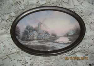 Antique Oval Picture Frames with Bubble Glass Reduced Antique Early 1900 S Victorian Windmill House by Water Print