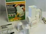 Appliance Stores In Duluth Mn Pre Owned Presto Salad Shooter Electric Slicer Shredder W Two Cones