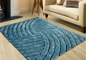 Area Rugs with Texas Star Allstar Rugs Sky Shaggy area Rug with 3d Design with Black Lines