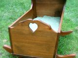 Baby Cradle Plans Pdf Vintage Handmade Wooden Cradle Bassinet My Brother Made This