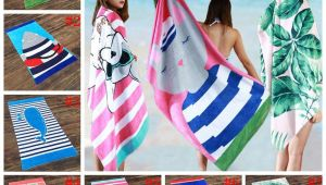 Bath Sheet Vs Beach towel 2019 Cute Cartoon Beach towel 160 80cm Animal Printed Adults